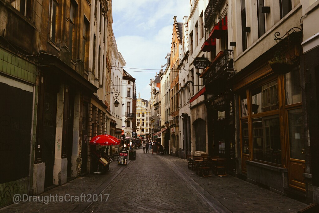 The old part of Brussels city centre is a web of small streets full of cafes and brasseries