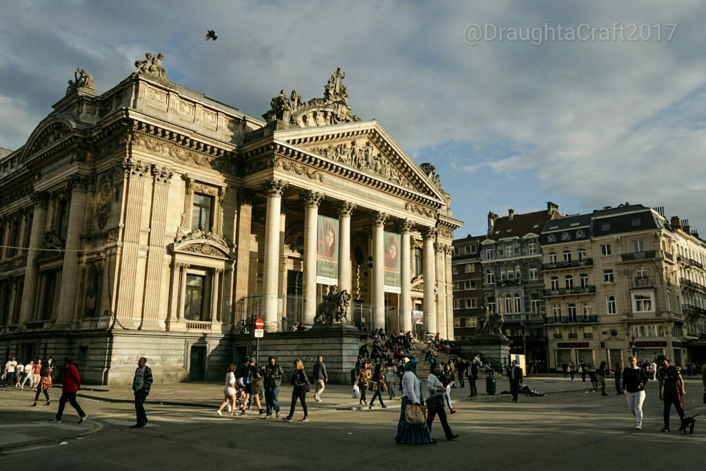 La Bourse, the former stock exchange, is the easily recognisable centre around which draught a craft bars are in Brussels city centre